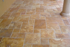 Gold Brushed/Chiseled French Pattern Tile